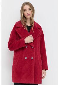 Pennyblack - Płaszcz. Kolor: czerwony. Materiał: materiał. Wzór: gładki. Styl: klasyczny