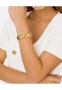 Elisabetta Franchi - ELISABETTA FRANCHI - Złota bransoleta z logo. Materiał: złote. Kolor: złoty