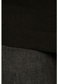 Czarny sweter Vila na co dzień, casualowy
