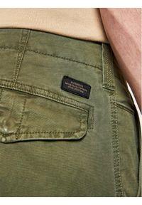 Superdry Spodnie materiałowe Cargo M7010195A Zielony Straight Fit. Kolor: zielony. Materiał: materiał