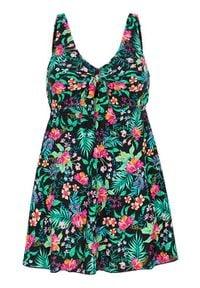 Cellbes Kostium z sukienką z serii Tropisk Czarny we wzory female czarny/ze wzorem 36. Kolor: czarny