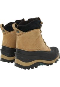 Brązowe buty zimowe The North Face na zimę
