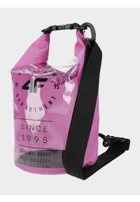 4f - Torba plażowa (5 L). Kolor: różowy. Wzór: gładki. Rodzaj torebki: na ramię