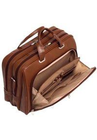 Brązowa torba na laptopa MCKLEIN biznesowa