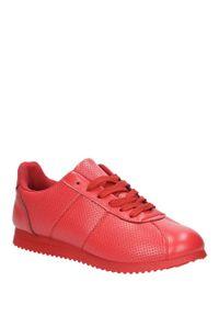 Czerwone buty sportowe Casu z cholewką, w kolorowe wzory