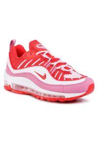 Czerwone półbuty Nike na płaskiej podeszwie, z cholewką
