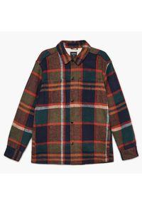 Cropp - Ocieplana kurtka w kratę - Khaki. Kolor: brązowy
