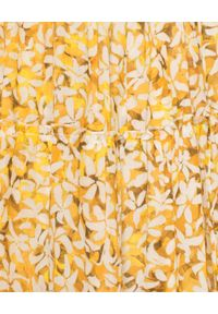 ON THE ISLAND - Sukienka maxi w kwiaty. Okazja: na co dzień, na plażę. Typ kołnierza: dekolt gorset, dekolt w kształcie V. Kolor: żółty. Wzór: kwiaty. Typ sukienki: gorsetowe. Materiał: materiał. Sezon: lato. Styl: elegancki, casual. Długość: maxi