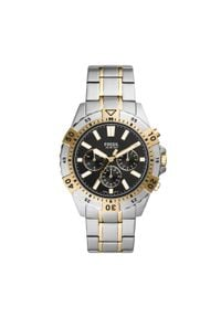 Fossil - Zegarek FOSSIL - Garrett Chrono FS5771 Silver/Gold. Kolor: srebrny, złoty, wielokolorowy. Materiał: materiał. Styl: biznesowy, vintage