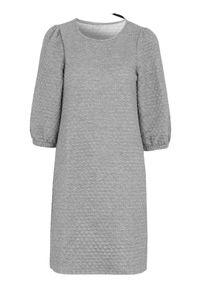 Freequent Sukienka dżersejowa Bobble szary melanż female szary XL (44). Kolor: szary. Materiał: jersey. Wzór: melanż. Styl: elegancki