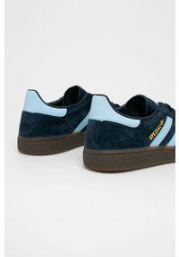 Niebieskie sneakersy adidas Originals do piłki ręcznej, z cholewką