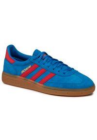 Adidas - Buty adidas - Handball Spezial FX5675 Brblue/Vivred/Goldmt. Zapięcie: sznurówki. Kolor: niebieski. Materiał: skóra ekologiczna, skóra, zamsz. Szerokość cholewki: normalna. Sezon: lato. Styl: retro, street. Sport: piłka ręczna