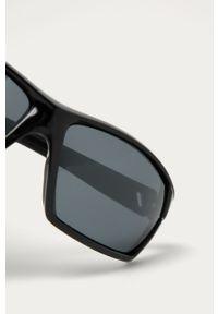 Czarne okulary przeciwsłoneczne Uvex gładkie, prostokątne