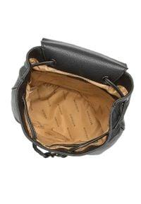 Wittchen - Damski plecak z tornistrowym zapięciem. Kolor: czarny. Materiał: skóra ekologiczna. Styl: klasyczny, elegancki