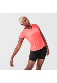 KALENJI - Koszulka do biegania damska Kalenji Run Dry. Materiał: materiał, poliester. Sport: bieganie