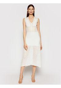 Pinko Sukienka letnia Capitano PE 21 BLK01 1G15QE Y6SZ Biały Regular Fit. Kolor: biały. Sezon: lato