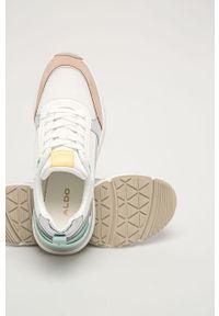 Wielokolorowe sneakersy Aldo na koturnie, na sznurówki, z cholewką