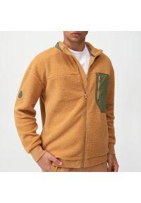 Sinsay - Bluza sherpa - Brązowy. Kolor: brązowy