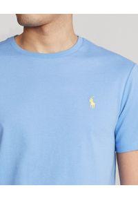 Ralph Lauren - RALPH LAUREN - Niebieska koszulka Custom Slim Fit. Okazja: na co dzień. Typ kołnierza: polo. Kolor: niebieski. Materiał: bawełna. Wzór: haft. Styl: casual #4