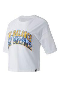 T-shirt New Balance na co dzień, elegancki