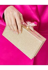 SOPHIA WEBSTER - Brokatowa kopertówka Clara. Kolor: złoty. Wzór: motyw z bajki. Styl: wizytowy. Rodzaj torebki: na ramię