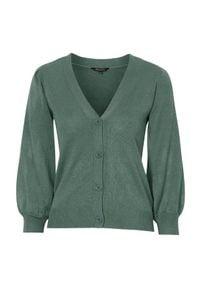 Zielony sweter Happy Holly z dekoltem w serek