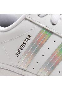 Białe buty sportowe na co dzień, Adidas Superstar, z cholewką