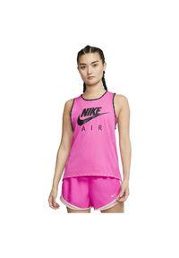 Koszulka damska Nike Air CJ1868. Materiał: tkanina, poliester, materiał. Długość rękawa: bez rękawów. Technologia: Dri-Fit (Nike). Długość: długie