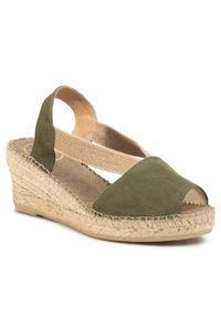 Zielone sandały Toni Pons casualowe, na co dzień