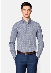 Lancerto - Koszula z Nadrukiem Tilda. Materiał: bawełna, jeans. Wzór: nadruk