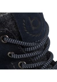 Niebieskie buty zimowe Bugatti casualowe, na co dzień, z cholewką