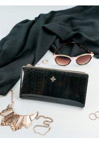 MILANO DESIGN - Portfel damski Milano Design czarny K1213-SK BLACK. Kolor: czarny. Materiał: skóra ekologiczna