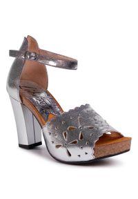 Srebrne sandały Libero