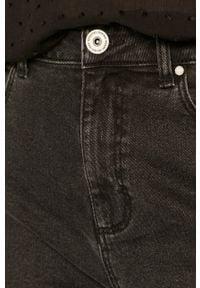 Szare jeansy medicine z podwyższonym stanem