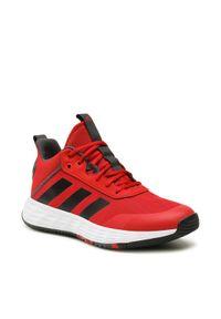 Adidas - adidas Buty Ownthegame 2.0 H00466 Czerwony. Kolor: czerwony