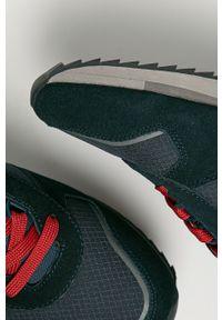 Niebieskie sneakersy Napapijri z cholewką, na sznurówki