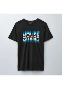 Koszulka z nadrukiem House Brand - Czarny. Kolor: czarny. Wzór: nadruk