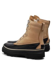 Brązowe buty zimowe sorel casualowe, z cholewką