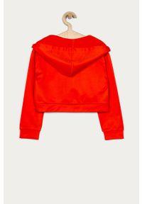 Pomarańczowa bluza rozpinana Liu Jo z kapturem, z aplikacjami