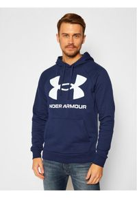 Under Armour Bluza Ua Rival Fleece Big Logo 1357093 Granatowy Loose Fit. Kolor: niebieski