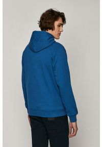 Niebieska bluza nierozpinana medicine gładkie, z kapturem