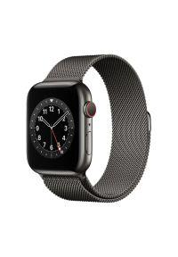 Szary zegarek APPLE wakacyjny, smartwatch