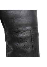 Czarne kozaki Calvin Klein na średnim obcasie, na obcasie