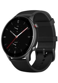 AMAZFIT - Amazfit smartwatch GTR 2e, Obsidian Black. Rodzaj zegarka: smartwatch. Kolor: czarny. Styl: elegancki, sportowy