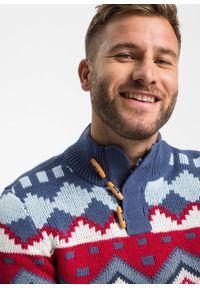 Niebieski sweter bonprix ze stójką