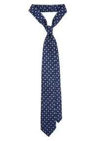 Niebieski krawat Lancerto klasyczny, paisley, na co dzień