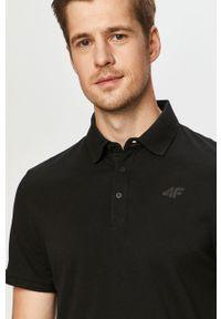 Czarna koszulka polo 4f polo, krótka