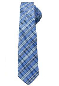 Niebieski krawat Alties elegancki, w kratkę