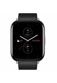 Huami - Smartwatch AMAZFIT Zeep E Square Czarny. Rodzaj zegarka: smartwatch. Kolor: czarny. Materiał: materiał. Styl: elegancki, sportowy