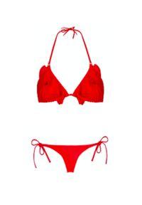 MISSION SWIM - Czerwony top od bikini Loretta. Kolor: czerwony. Wzór: aplikacja